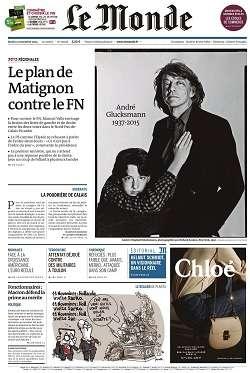 Le Monde + 2 suppléments du jeudi 12 novembre 2015
