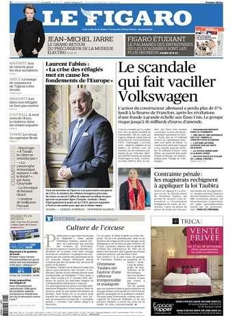Le Figaro Du Mardi 22 Septembre 2015