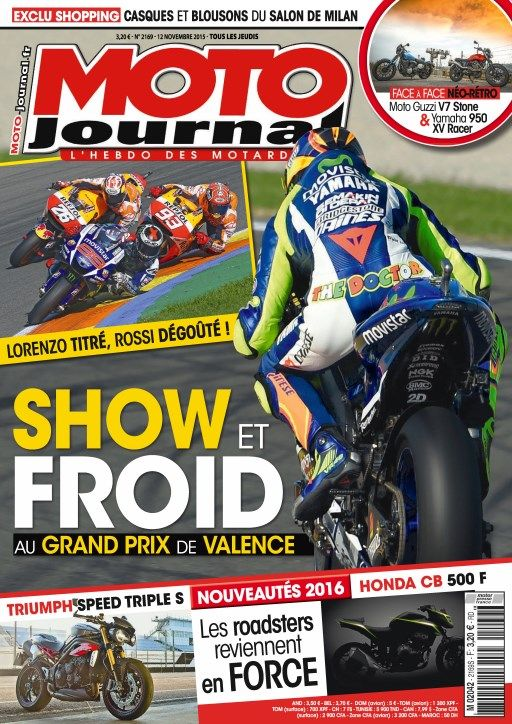 Moto Journal 2169 - 12 au 18 Novembre 2015