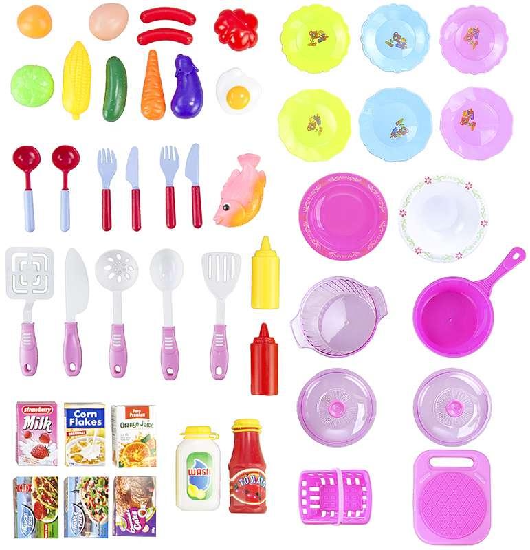 Grosse spielkuche kinderkuche mit umfangreichem zubehor for Wasserhahn spielküche