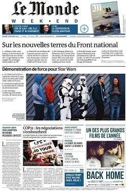 Le Monde Weekend et 3 Suppléments du Samedi 12 Décembre 2015