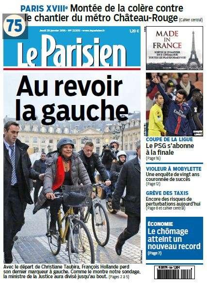Le Parisien du Jeudi 28 Janvier 2016
