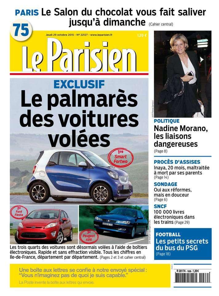 Le Parisien + Journal de Paris du jeudi 29 octobre 2015