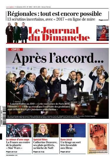 Le Journal du Dimanche - 13 Décembre 2015