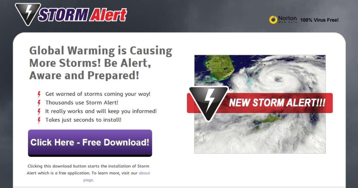Ads by StormAlerts uninstallation