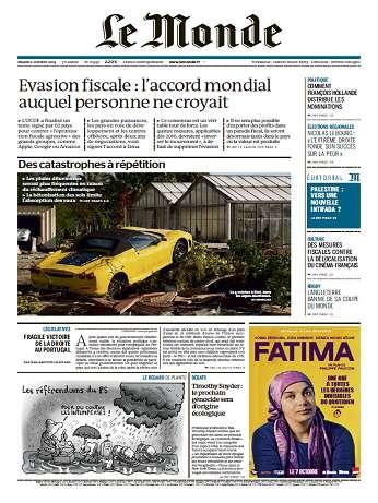 Le Monde + Eco&Entreprise Mardi 6 Octobre 2015