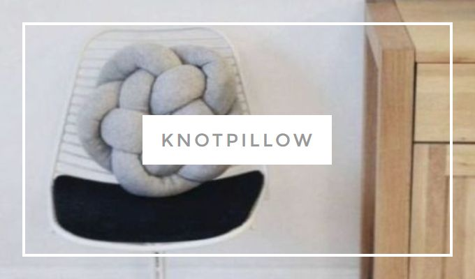 DIY knotpillow
