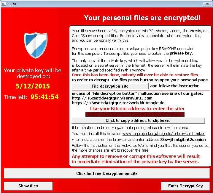 Remove Ransom:Win32/Tescrypt