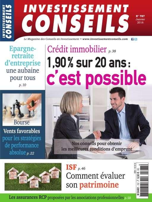 Investissement Conseils 787 - Janvier 2016