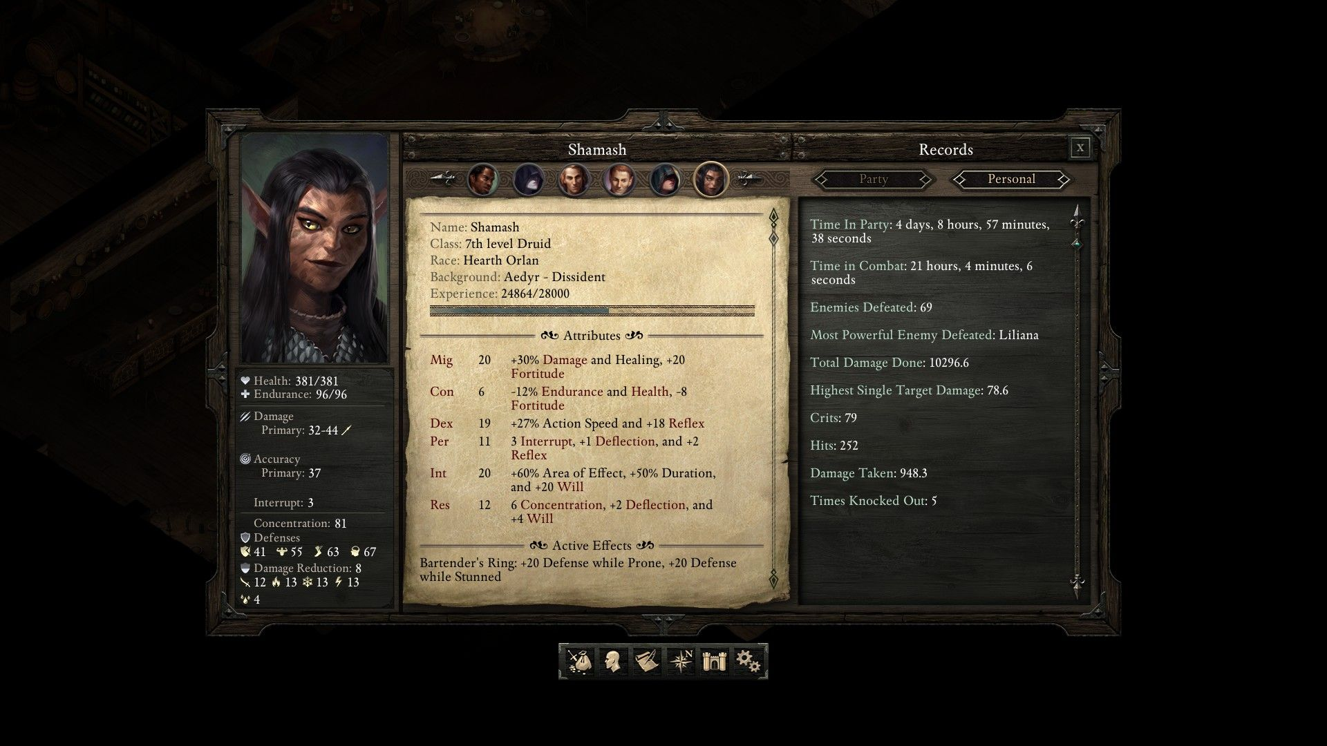 Pillars Of Eternity Main Character Fighter Builds