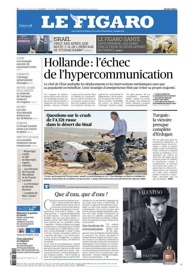 Le Figaro du Lundi 02 Novembre 2015