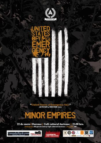 Minor Empires en Ourense - cartel