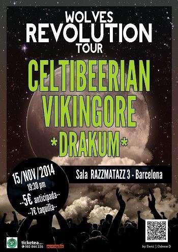 Celtibeerian + Vikingore Barcelona. Cartel