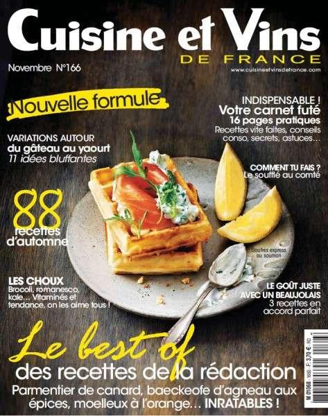 Cuisine et Vins de France – Novembre 2015