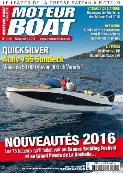 Moteur Boat 311 – Novembre 2015