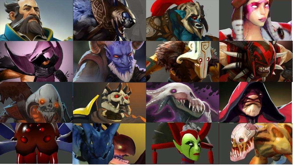 How DotA 2 hero portraits looked several years ago