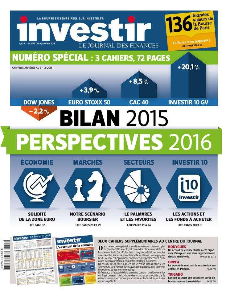 Investir 2192 - 9 au 15 Janvier 2016