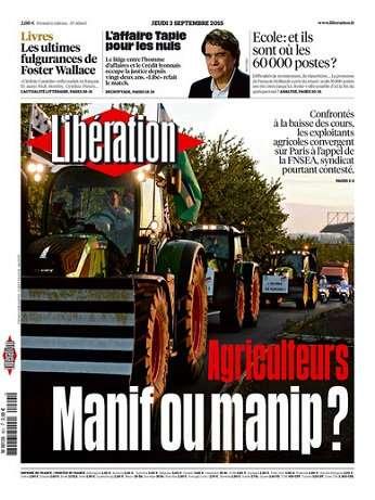 Liberation Du Jeudi 3 Septembre 2015
