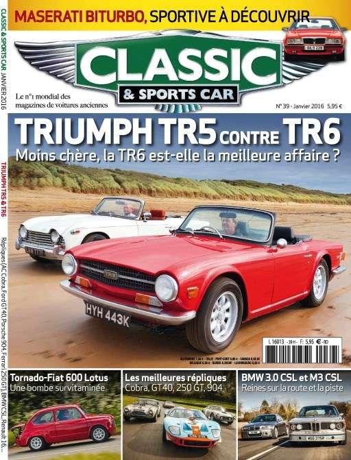 Classic & Sports Car 39 - Janvier 2016