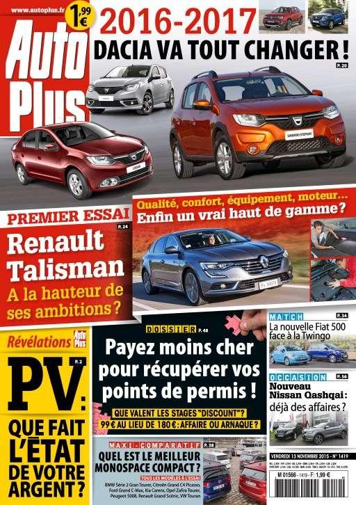 Auto Plus 1419 - 13 au 19 Novembre 2015