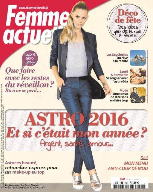 Femme Actuelle 1631 - 28 Décembre 2016 au 3 Janvier 2016