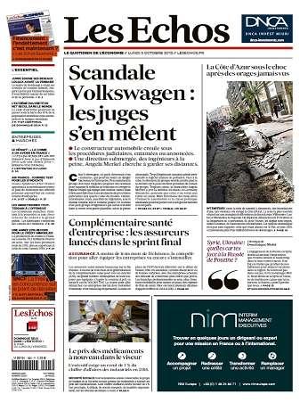 Les Echos Du Lundi 5 Octobre 2015