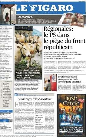 Le Figaro du Mardi 27 Octobre 2015
