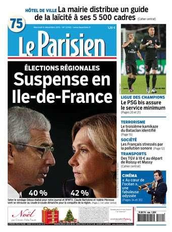 Le Parisien du Mercredi 9 Décembre 2015