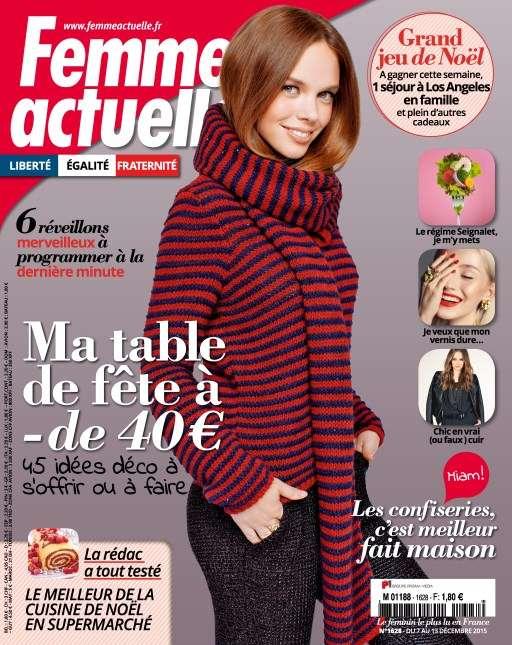 Femme Actuelle 1628 - 7 Au 13 Décembre 2015