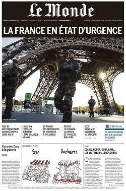 Le Monde du Mardi 17 Novembre 2015