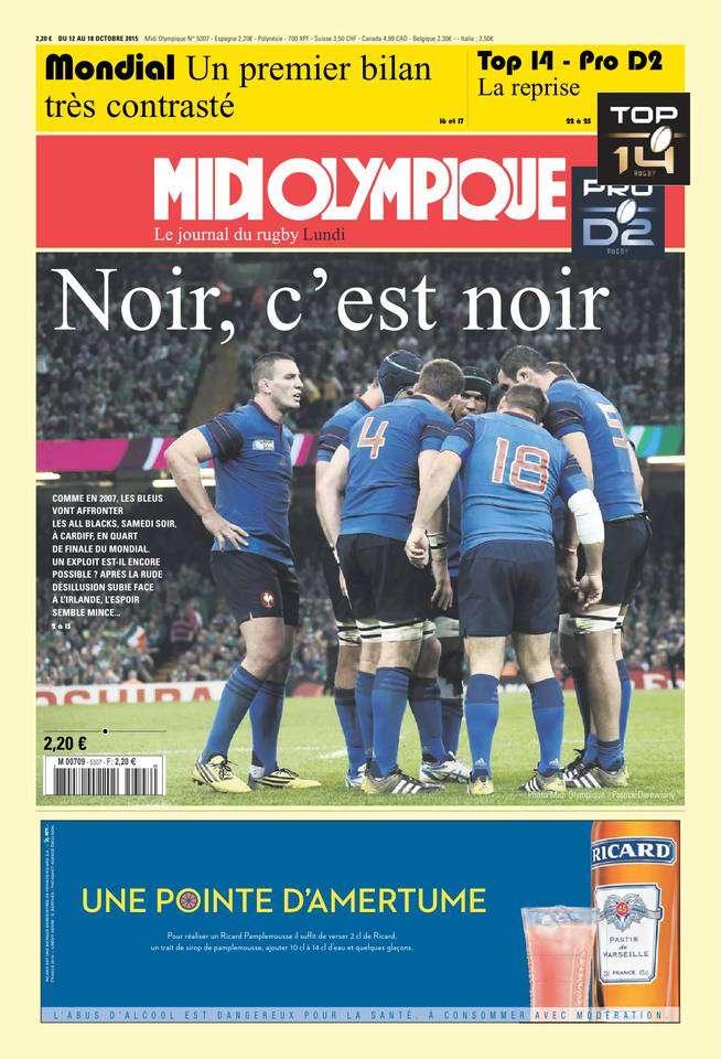 Midi Olympique Rouge Du Lundi 12 Octobre 2015
