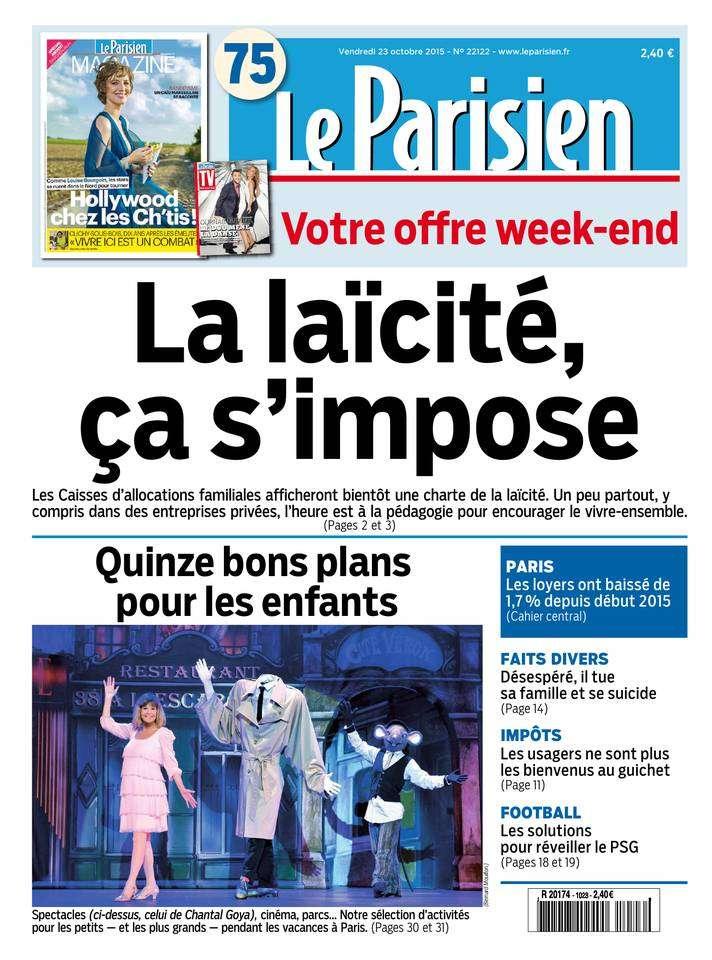 Le Parisien + Journal de Paris du Vendredi 23 Octobre 2015