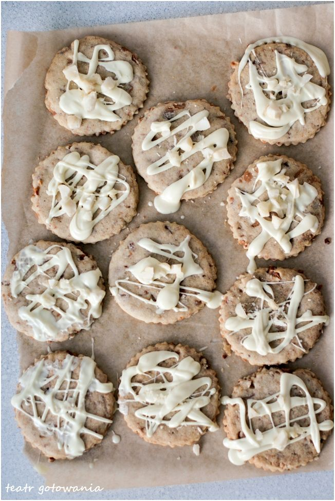 cookies macadamia and white chocolate ciastka