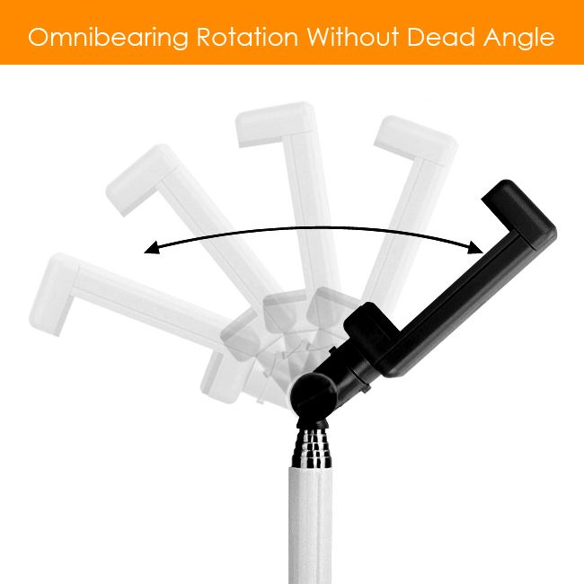 genuine remax wired selfie stick tripod monopod clip holder for iphone androi. Black Bedroom Furniture Sets. Home Design Ideas