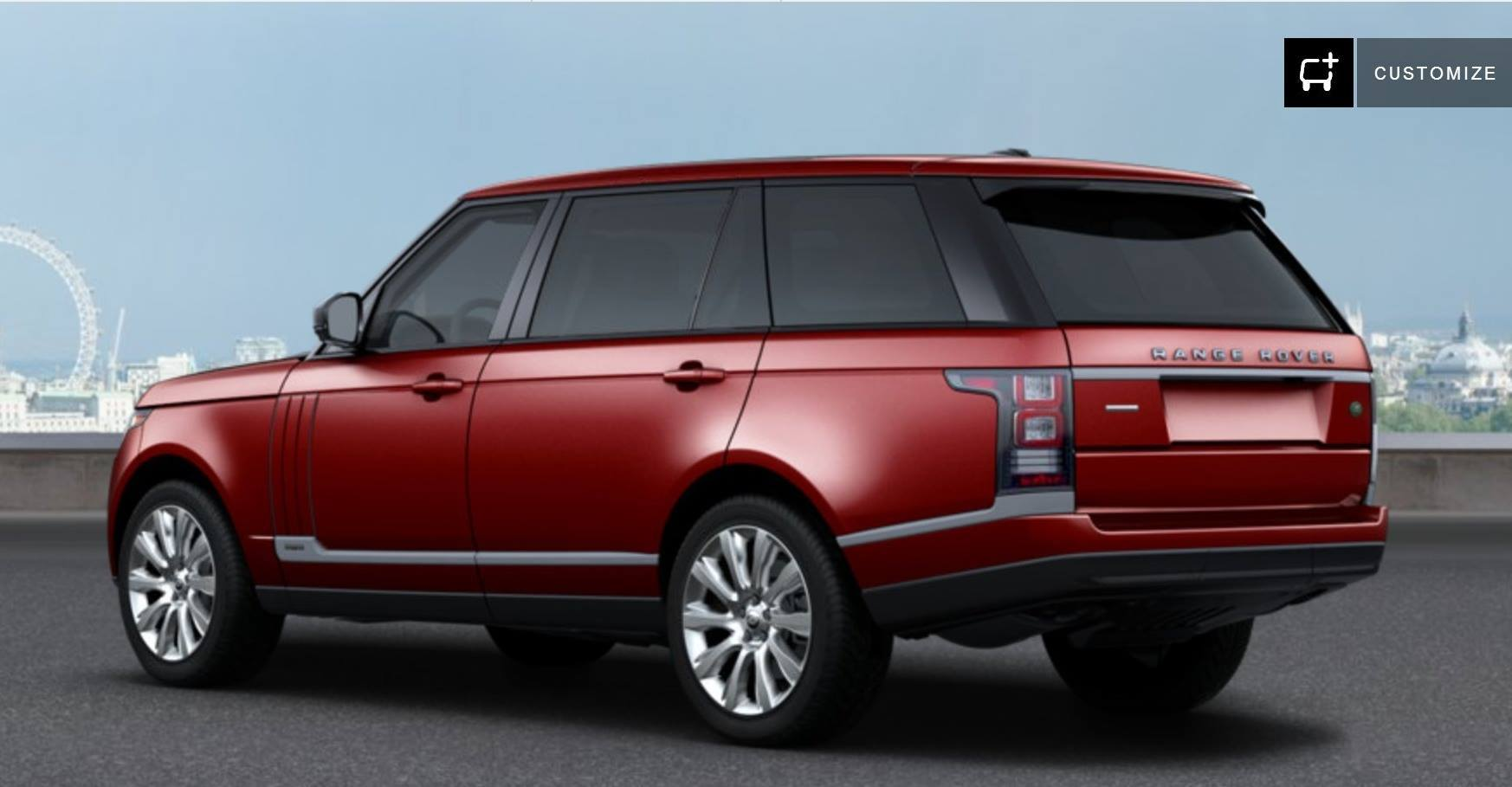 our new range rover supercharged lwb red over black. Black Bedroom Furniture Sets. Home Design Ideas