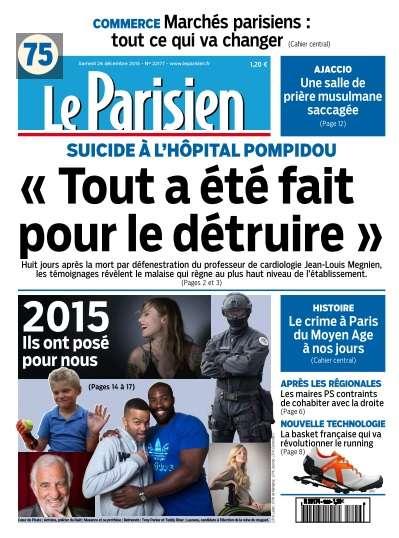 Le Parisien du Samedi 26 Décembre 2015