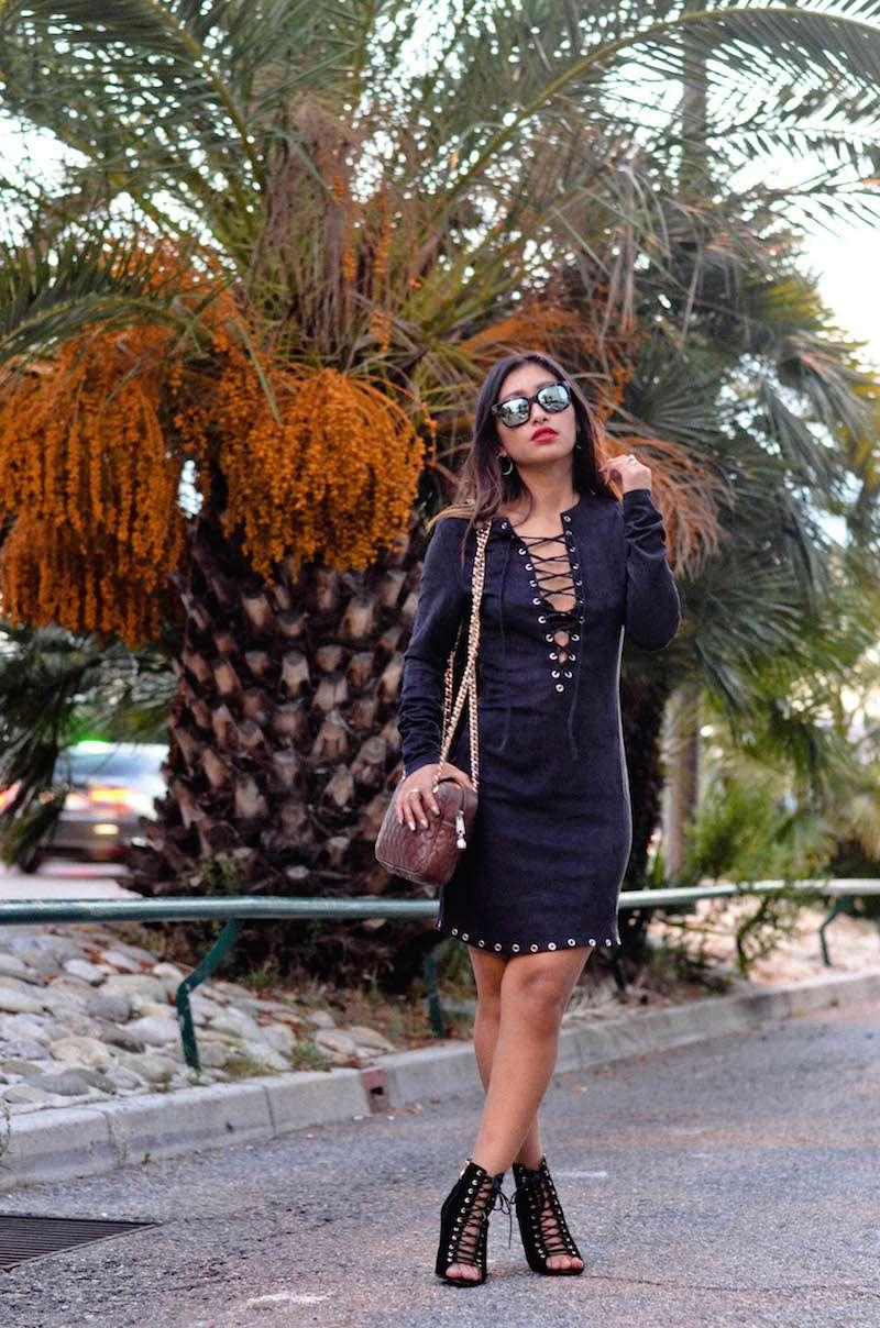 blog mode robe en daim avec lacets