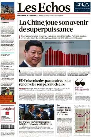 Les Echos du Lundi 26 Octobre 2015