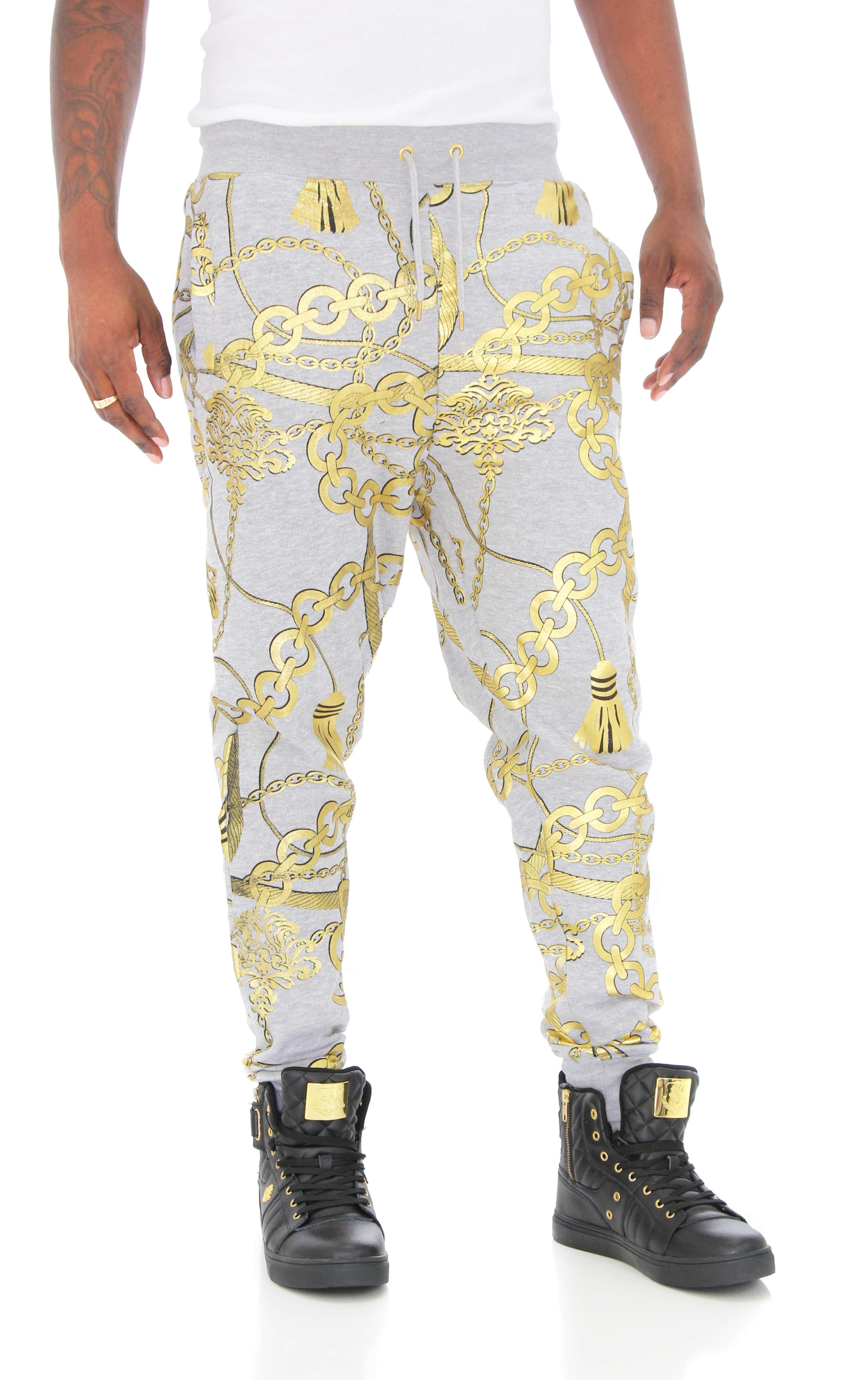 Imperious Men's Gold Chains Fleece Jogger Pant