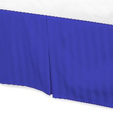Jay's Home Goods Luxurious 100% Egyptian Cotton 1PC Bed Skirt 400 Thread Count in Stripe Egyptian Blue , Cal King with 27