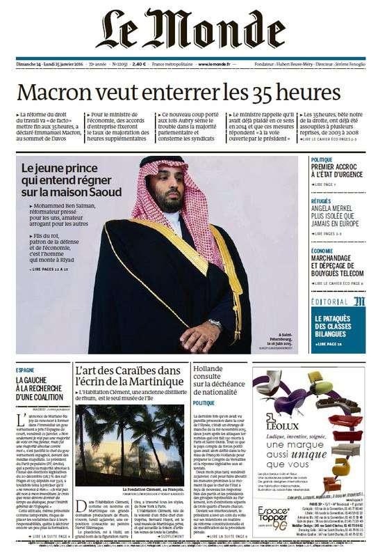 Le Monde + 2 suppléments du Dimanche 24 Janvier 2016