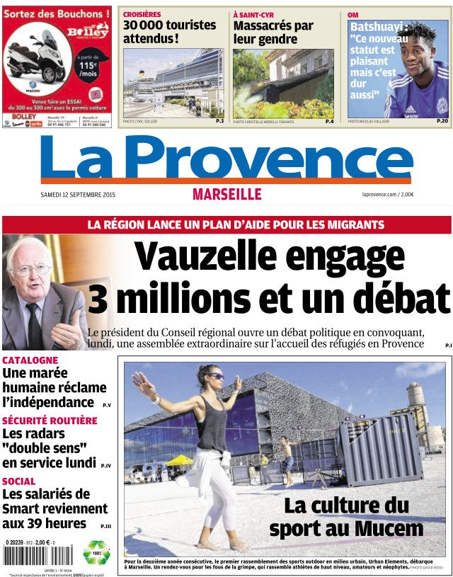 La Provence Marseille du samedi 12 septembre 2015