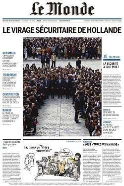 Le Monde et Supplément du Mercredi 18 Novembre 2015