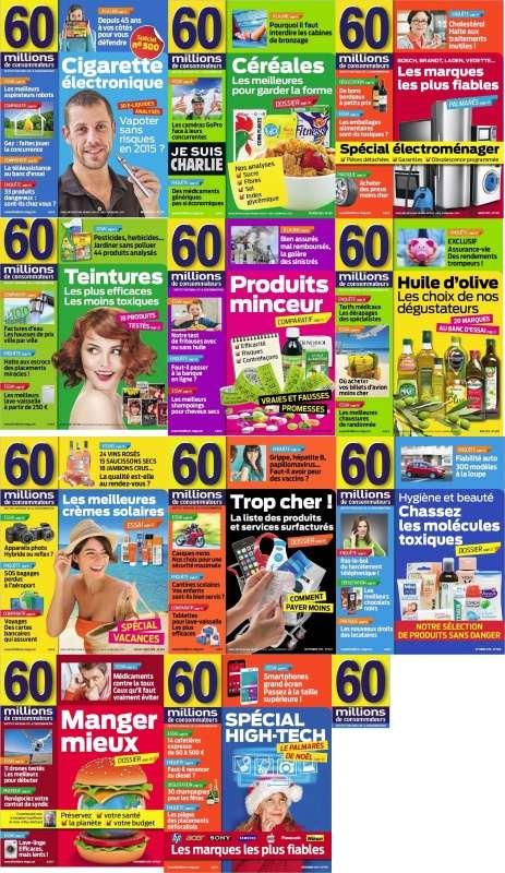 60 Millions de Consommateurs Collection Annuelle 2015