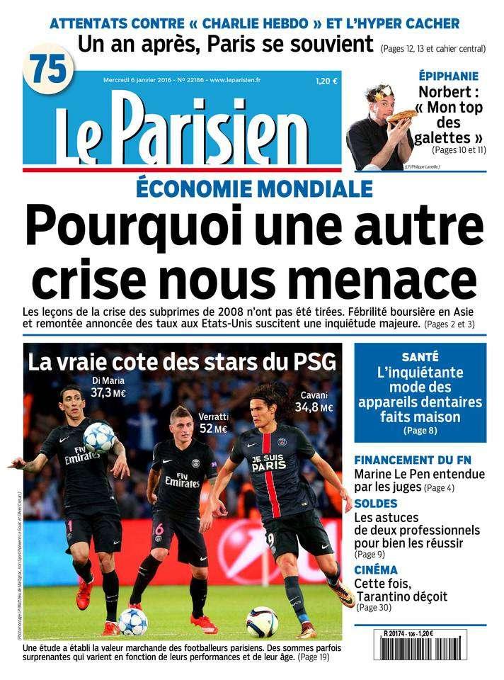 Le Parisien + Journal de Paris du Mercredi 6 Janvier 2016