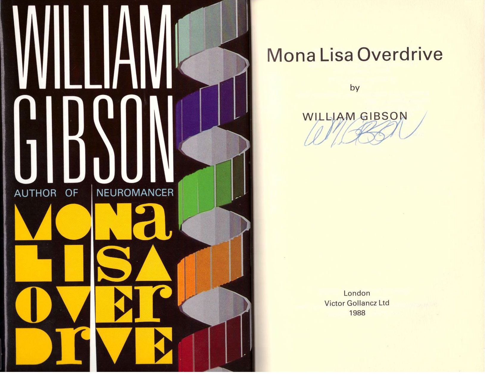 Mona Lisa Overdrive, Gibson, William.