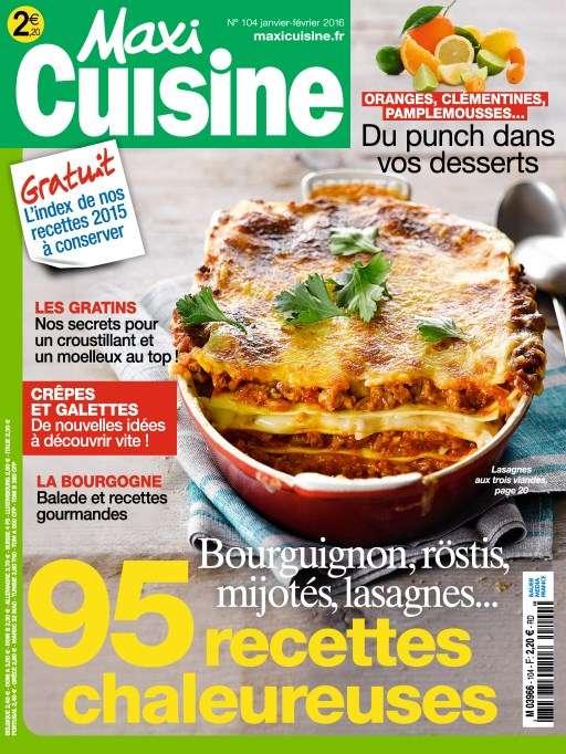 Maxi Cuisine 104 - Janvier-Février 2016