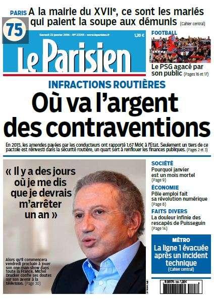 Le Parisien + journal de Paris du Samedi 23 Janvier 2016
