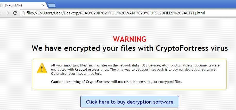 Remove CryptoFortress