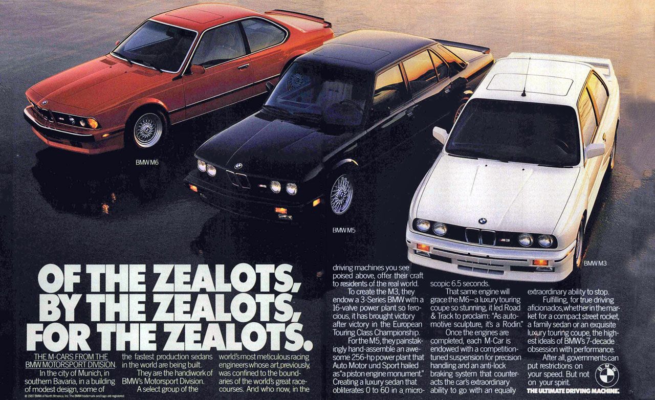 Of the zealots, by the zealots, for the zealots. The M-Cars from the BMW motorsport division.